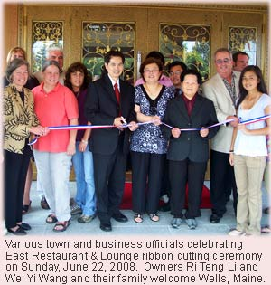 East Restaurant and Lounge welcomes Wells today from a very special ribbon cutting ceremony.